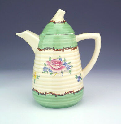 Clarice Cliff - Wilkinson Pottery - Flower Decorated Coffee Pot - Art Deco!