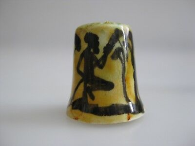 Hand Painted THIMBLE with Silhouettes Australia