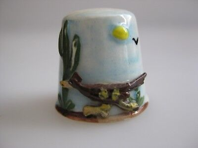 Hand Painted THIMBLE Arizona