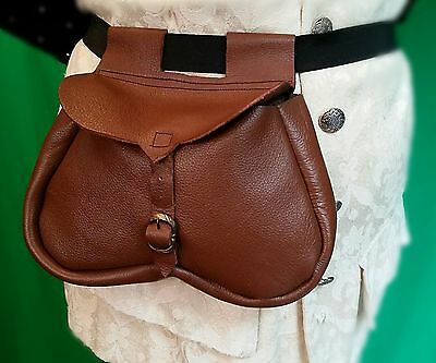 LEATHER KIDNEY POUCH ideal for longbow archery/archers, Re-enactment, LARP