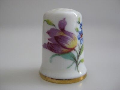 LIMOGES France Flowers Thimble