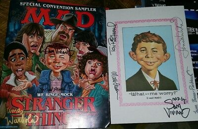 NYCC 2017 exclusive AUTOGRAPHED MAD Magazine Stranger Things Comic Cover VARIANT