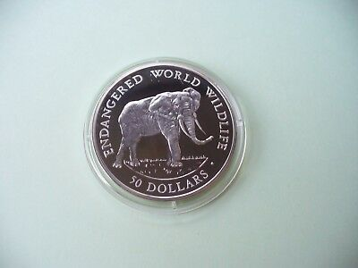 Cook Islands - 50 Dollars 1990 PP Silber-African elephant