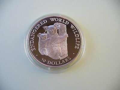 Cook Islands - 50 Dollars 1990 PP Silber-Koala bear