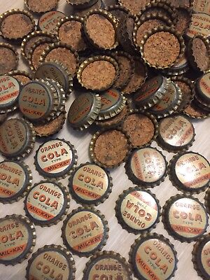 Huge Lot of Vintage Bottle Caps Metal Orange Cola Mil-kay Type Cork