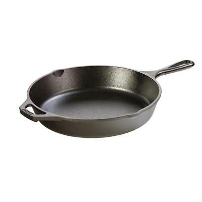 """10.25"""" Black Cast Iron Skillet Cooker Home Kitchen Cooking Frying Pan Cookware"""