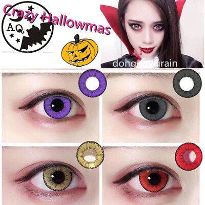 UK STOCK! Coloured Contact Lenses Crazy Halloween Cosmetic Makeup Cosplay lens 6