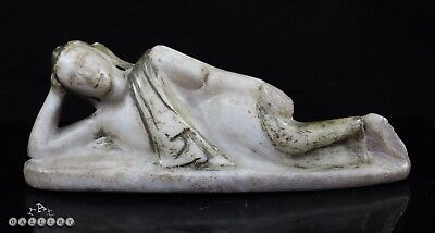 Burma 19th Century Mandalay Alabaster Reclining Buddha