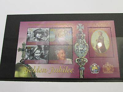2002 Nauru Golden Jubille Minature Sheet MNH