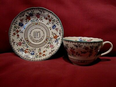 Rare Vintage Copeland Spode Royal Jasmine Cabinet Cup And Saucer Mabey Johnson