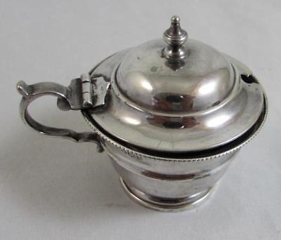Silver Lidded Mustard Pot Hallmarked Sheffield 1933 Robert Stewart