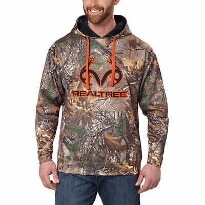Realtree Men's Performance Hoodie - BROWN ( SELECT SIZE ) ****NEW****