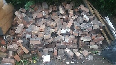 Pile of old Imperial mixed bricks.