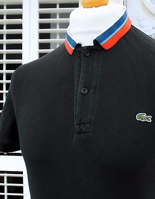 Lacoste Black Stretch Cotton Polo - XS/S - Size 3 - Mod Ska Scooter Casuals Rare