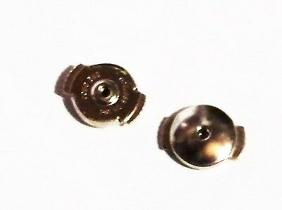 jewellery  repair  pair of spring back  finding for earring 14k solid white gold