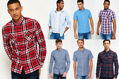 New Mens Superdry Shirts Selection - Various Styles & Colours 1110