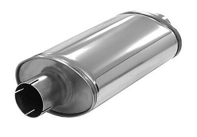 Simons Stainless Steel Silencer Universal Super 2 15/32in Shiny Gloss