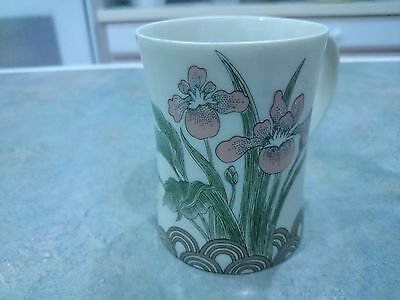 Fitz and Floyd coffee cup with iris design