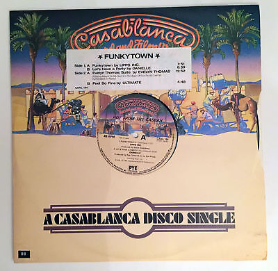 "Lipps Inc - Funkytown. Vinyl 12"" Single. 1980"