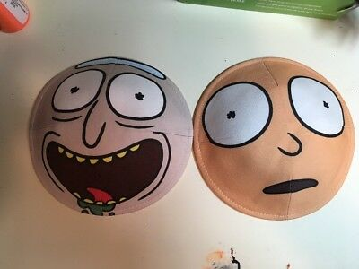 Rick And Morty Face Kippahs (As Seen On Adult Swim) - Rare Skullcap