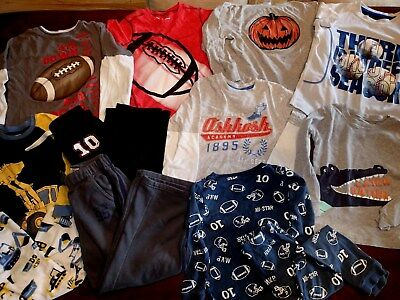 Boys Size 5 Fall Clothes Lot of 12- Gymboree, Carters, OshKosh, Jumping Bean