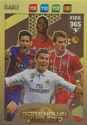 Fifa 365 Cards 2018 - 1 - INVINCIBLE - Rare