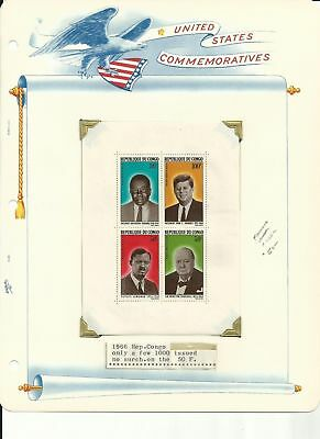 Congo Collection, John F. Kennedy, #C32a, 591-592 +, 11 Pages