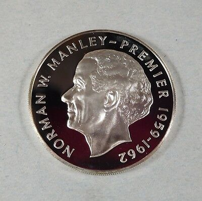 1975 JAMAICA 5 DOLLAR COIN  - PROOF - Norman W Manley