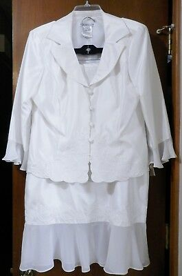 Womens Ivory Plaza South 2 Pc Mother of the Bride Formal Outfit Size 14 NWT
