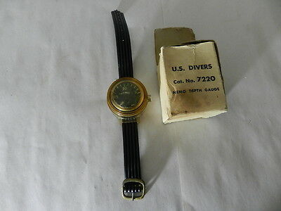 Vintage Scuba Diving Depth Gauge- U.s. Divers No. 7220 Nemo Depth Gauge- W/box
