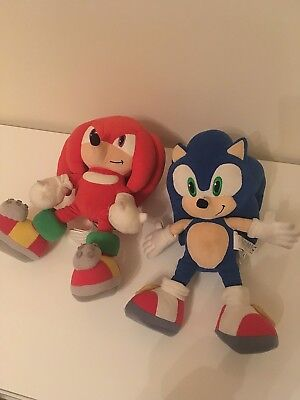 Bundle 2 Sonic The Hedgehog Plush Teddys Knuckles