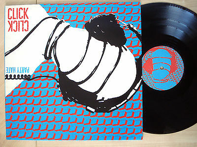 Click Click Party Hate SIGNED A-1 B-1 UK LP Rorschach Testing 1986 NM