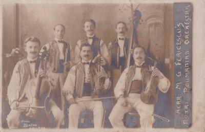 RP BLACKPOOL FERICESCU'S ROMANIAN ORCHESTRA BURTON NORTH PIER c1911 ENTERTAINERS