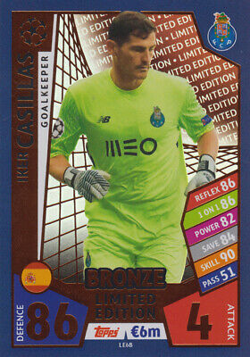 Match Attax Champions League LE6B - Iker Casillas - Limited Edition BRONZE 17/18