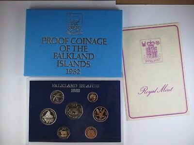 1982 Coins of the Falkland Islands Proof Coin Set