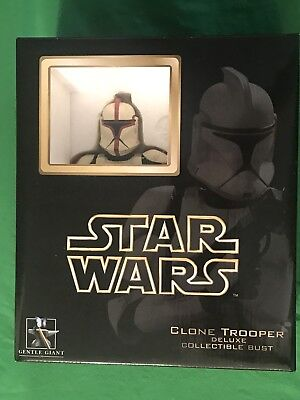 Gentle Giant Star Wars Deluxe CLONE TROOPER CAPTAIN RED Collectible Bust