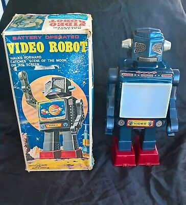 Sh S.h Horikawa - Video Robot Videorobot Giocattolo Vintage Anni '60 Made Japan