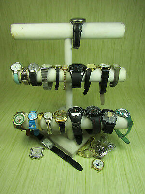 Mens Womens Jewelry Watch Lot AS IS w. Timex Disney Waltham Lucien Piccard
