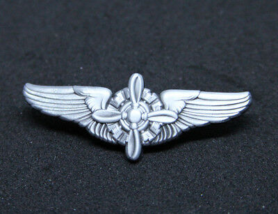 Flight Engineer F/E Wings WING Pin Metal Silver 50mm / 2 inches