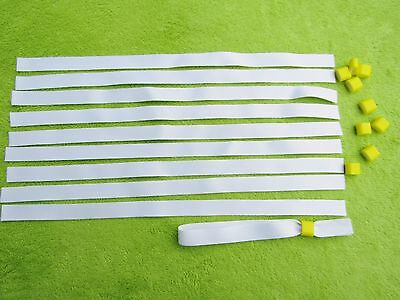 50 x Blank Fabric Wristbands for Sublimation or Vinyl Print,Yellow Clip 15mm