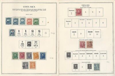 Costa Rica Collection 1863-1964 on Minkus Specialty Pages, Around 50 Pages