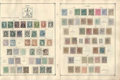 Costa Rica, Cilicia, Crete, Cub. Collection on 15 Scott International Pages