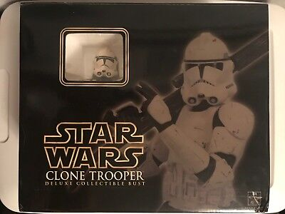 Gentle Giant Star Wars ROTS Deluxe CLONE TROOPER Phase 2 Collectible Bust