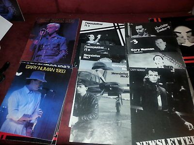 Gary Numan fanclub Newsletter numbers 1-10 & Yearbook '81 to '84