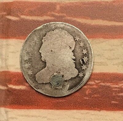 1809-1837 10C Capped Bust Dime 90% Silver Vintage US Coin #AX2