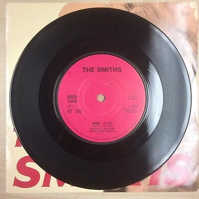 "The Smiths Ask 7"" SOLID CENTRE Ultra Rare!! RT194 Rough Trade Morrissey RELISTED"