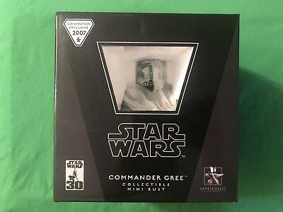 Gentle Giant Star Wars 2007 Con Exclusive COMMANDER GREE Collectible Mini Bust