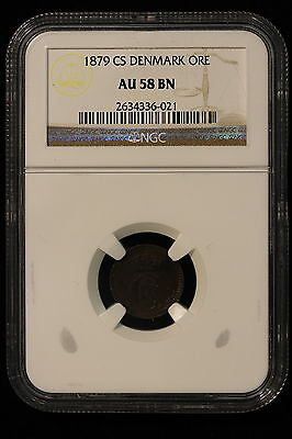 1879 CS. Denmark. Ore. NGC Graded AU-58 BN