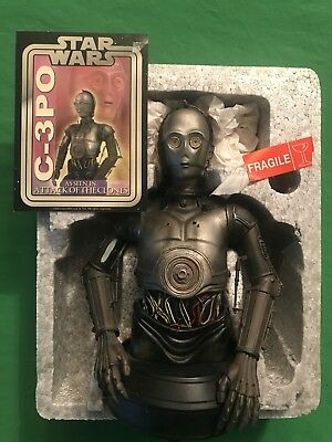 Gentle Giant Art of Star Wars AOTC C-3PO Exhibition Exclusive Collectible Bust