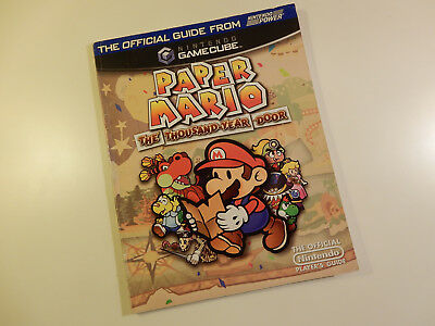 "Original Nintendo GameCube Spieleberater ""Paper Mario The Thousand-Year Door"""